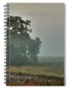 Foggy Tree In The Field Spiral Notebook