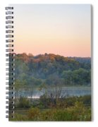 Foggy Valley Panorama Spiral Notebook