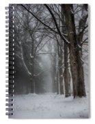 Foggy Vermont Winter Path Spiral Notebook