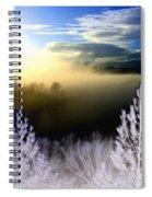 Foggy Winter Sunset Spiral Notebook