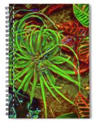 Foliage Abstract 3698 Spiral Notebook