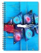 Folk Art Galactic Space Fish Spiral Notebook