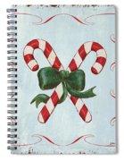 Folk Candy Cane Spiral Notebook