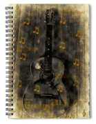 Folk Guitar Spiral Notebook