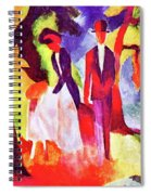 Folks At The Blue Sea By August Macke Spiral Notebook