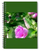 Following A Bumble Bee In Flight Spiral Notebook