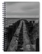 Folly Beach Anti Erosion Pier Spiral Notebook