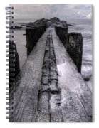 Folly Beach Pilings Charleston South Carolina Spiral Notebook