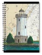 Fon Du Lac Lighthouse Wi Nautical Chart Map Map Spiral Notebook
