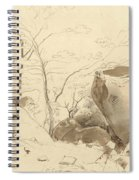 Fontainebleau, Figure Leaning Against A Rock Spiral Notebook