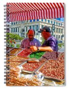Food Booth In Valparaiso Square-chile Spiral Notebook