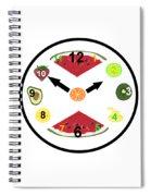 Food Clock Spiral Notebook