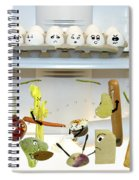 Food Fight Spiral Notebook