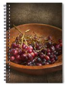 Food - Grapes - A Bowl Of Grapes  Spiral Notebook