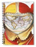 Fools Cap World Map, C1590 Spiral Notebook