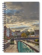 Foot Bridge At Gas Street Basin  Birmingham Spiral Notebook