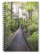 Foot Bridge In Costa Rica Spiral Notebook
