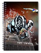 Football Derby Rams Against Crystal Palace Eagles Spiral Notebook