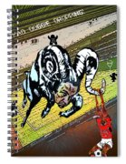 Football Derby Rams Against Nottingham Forest Red Dogs Spiral Notebook