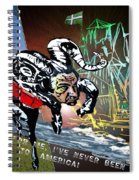 Football Derby Rams Against Plymouth Pilgrims Spiral Notebook