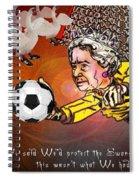 Football Derby Rams Against Swansea Swans Spiral Notebook