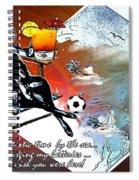 Football Derby Rams On Holidays By The Sea Spiral Notebook