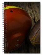Football Helmet And Football Spiral Notebook