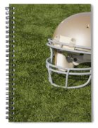 Football Helmet On Artificial Turf Spiral Notebook
