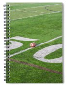 Football On The 50 Yard Line Spiral Notebook
