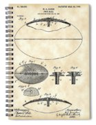 Football Patent 1902 - Vintage Spiral Notebook