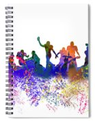 Football Players Skyline Spiral Notebook