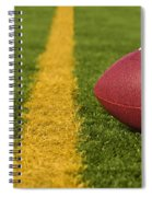 Football Short Of The Goal Line Close Spiral Notebook