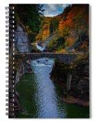 Footbridge At Lower Falls Spiral Notebook