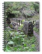 Footbridge At Millers Dale Spiral Notebook
