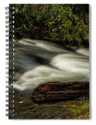 Footbridge Over Raging Moccasin Creek Spiral Notebook