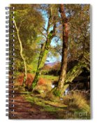 Footpath At The Edge Of Lantys Tarn In The Lake District Cumbria Spiral Notebook