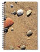 Footprint On Sand Spiral Notebook