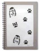 Footprints- Friends Spiral Notebook