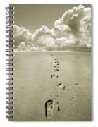 Footprints In Sand Spiral Notebook
