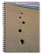 Footprints In The Sand ... Spiral Notebook