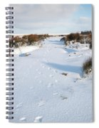 Footprints In The Snow V Spiral Notebook