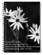 For God So Loved Black-eyed Susan Flower Spiral Notebook
