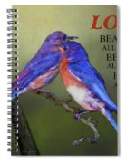 For Love Of Bluebirds And Scripture Spiral Notebook