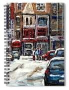 For Sale Original Paintings Montreal Petits Formats A Vendre Downtown Montreal Rue Stanley Cspandau  Spiral Notebook