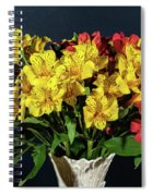 Foral Bouquet Of Red And Yellow Astomelia Spiral Notebook