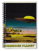 Forbidden Planet In Cinemascope Retro Classic Movie Poster Detailing Flying Saucer Spiral Notebook