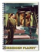 Forbidden Planet In Cinemascope Retro Classic Movie Poster Indoors Spiral Notebook