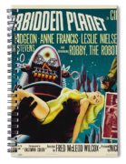 Forbidden Planet In Cinemascope Retro Classic Movie Poster Spiral Notebook