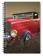 Ford Coupe Cartoon Photo Abstract Spiral Notebook