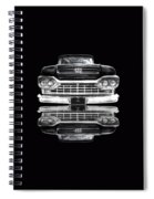 Ford F100 Truck Reflection On Black Spiral Notebook